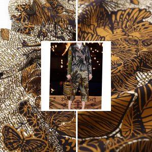 Dior fabric cruise 2020 cotton fabric/Italian fashion week fabric