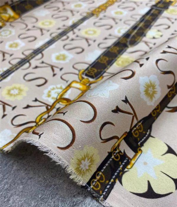 Gucci silk twill fabric