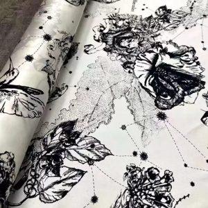 Dior Zodiac Silk Twill fabric/Amazing Dior silk fabric/Designer Silk astrology/By preorder limited edition