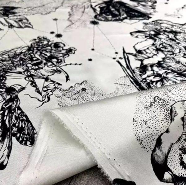 Dior Zodiac Silk Twill fabric