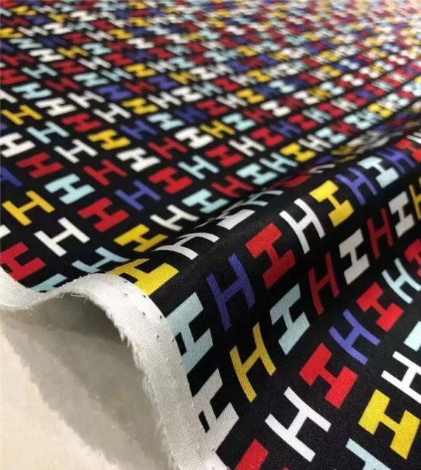 Hermes silk twill fabric