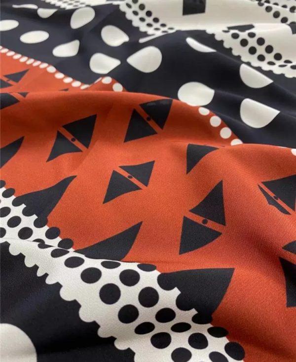 Valentino silk crepe de Chine fabric 2021 fashion week by preorder 3