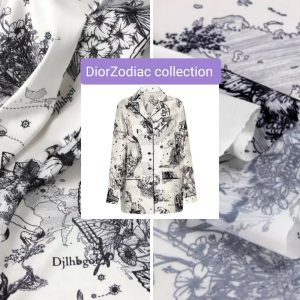 Dior Zodiac collection Silk Polyester/Dior Astrology fabric Polyester by preorder
