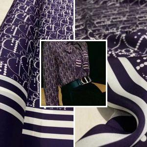 Dior silk stretch fabric/New collection fashion week fabric