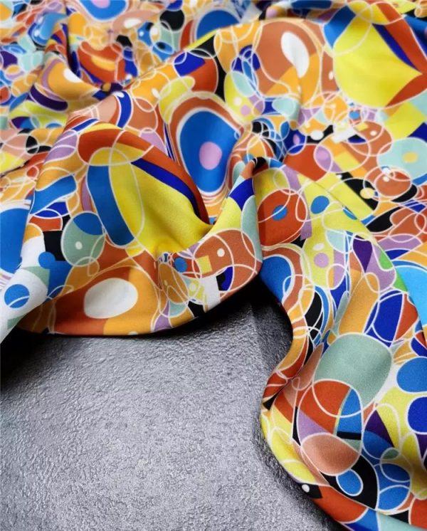 Italian Designer silk fabric Gustav Klimt
