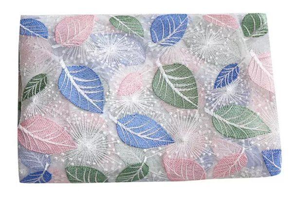 O1CN015VggnF1kcw6vVwnpf 131054705 0 lubanu Georges Hobeika leaf design embroidery silk fabric/2021 Fashion week collection fabric 3