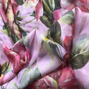 Silk Chiffon fabric/Fashion week Italian Designer fabric