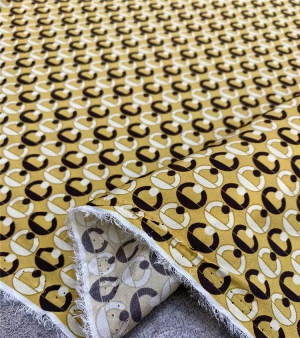 Gucci silk crepe de chine fabric