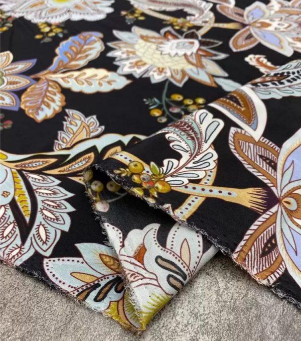 Etro silk crepe de chine stretch fabric