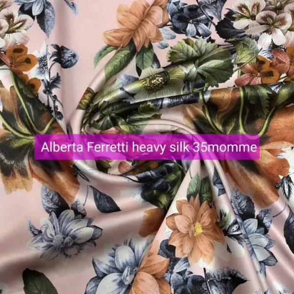 Alberta Ferretti silk fabric