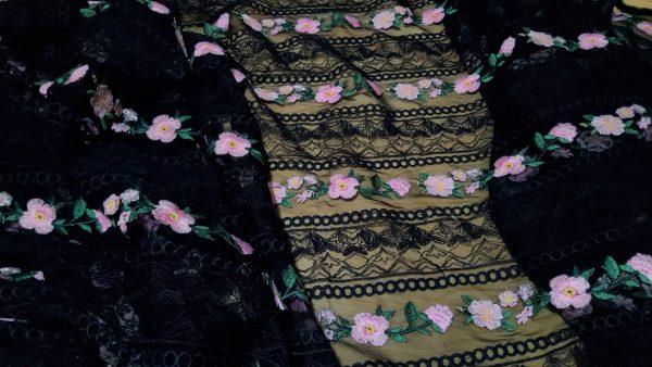 Alberta Ferretti fabric Exclusive embroidery silk mesh fabric