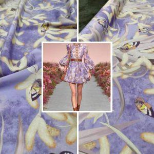 Zimmermann silk fabric