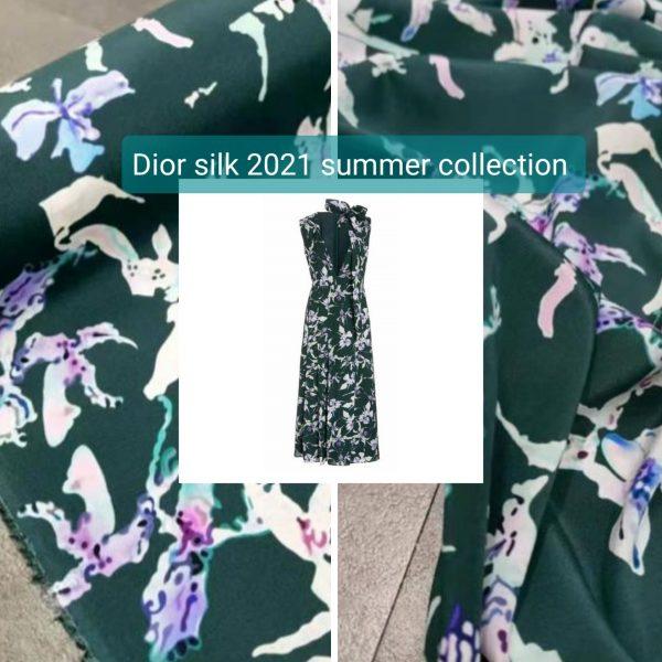 Dior silk fabric 2021