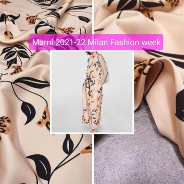 Marni silk fabric Milan Fashion