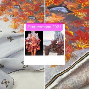 Zimmermann fabric linen cotton fabric 2021 collection/Zimmermann butterfly collection fabric