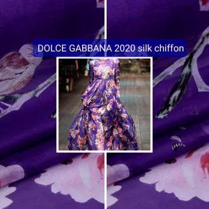 Silk chiffon squirrels birds colour #1 Collection 2020 Milan Fashion week