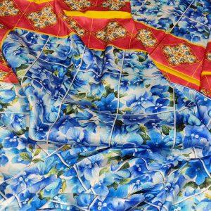 Dolce Gabbans silk satin,Majolica,Sicily Show