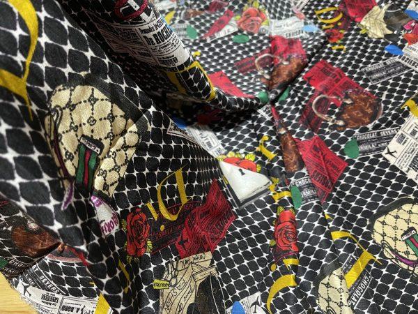 Dior,Gucci designer silk stretch satin fabric