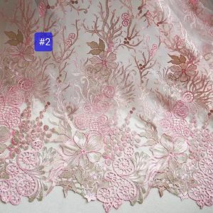 Georges Hobeika fashion week embroidery on silk fabric/Limited Edition, colour #2