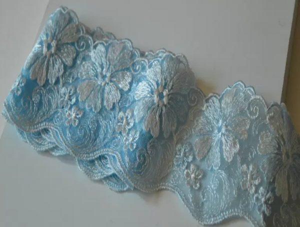 Beautiful Italian silk embroidered lace