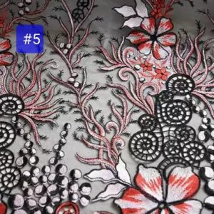 Georges Hobeika fashion week embroidery on silk fabric/Limited Edition, colour #5