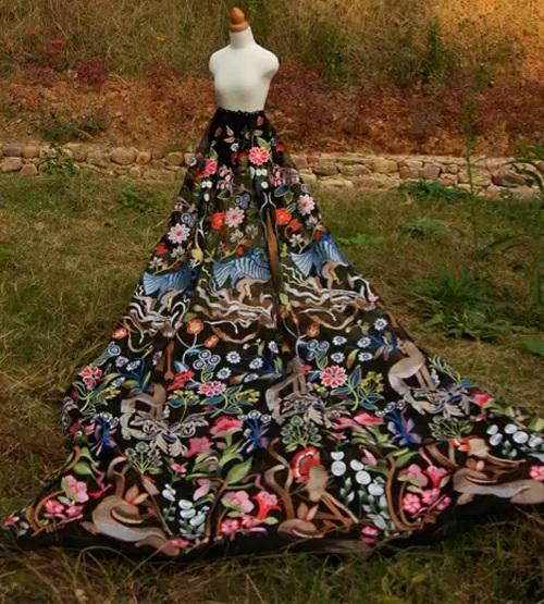 Mark Bumgarner Spring/Summer 2020 cotton embroidered silk fabric