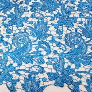 Italian Designer Silk embroidered 3D fabric