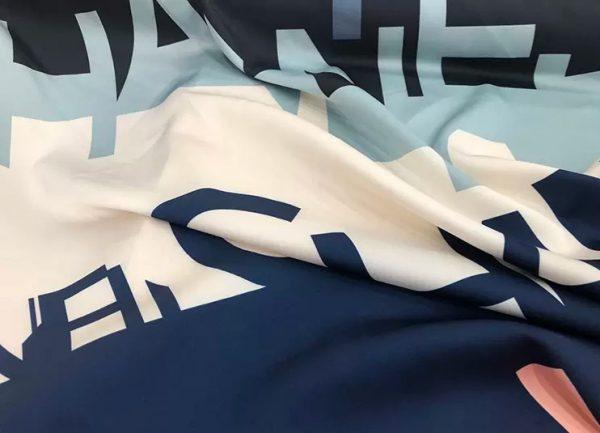 French Designer Silk fabric Monogram