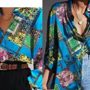 Versace silk crepe de chine fabric/ Italian patchwork silk crepe fabric
