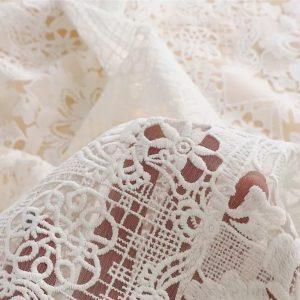 Zimmerman embroidered fabric milk silk
