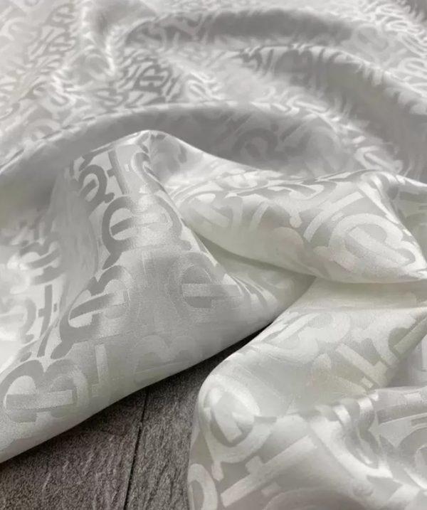 Burberry silk fabric colour White