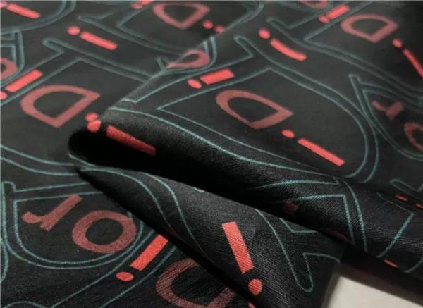 Dior Silk satin stretch fabric