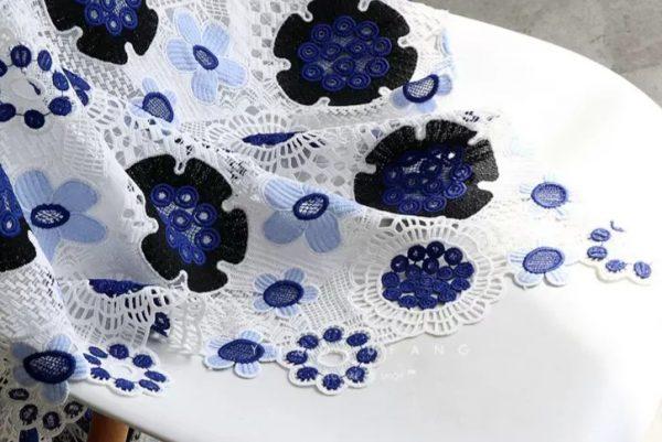 Alberta Ferretti embroidered fabric silk cotton