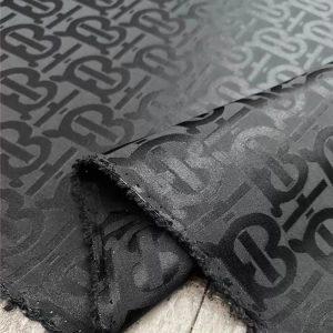 Burberry silk fabric colour Black