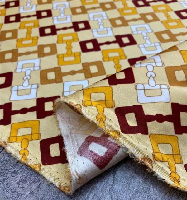 Gucci twill silk fabric