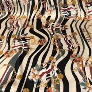 Roberto Cavalli Silk Fabric,2021 Fashion week Milan Collection stretch Silk fabric