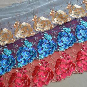 Wonderful Italian Silk Embroidery Lace