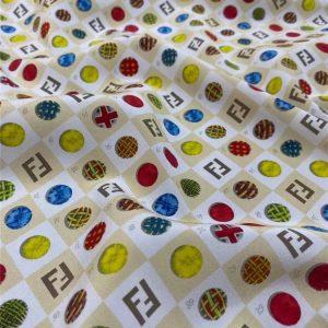 Fendi silk crepe de chine fabric