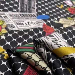 Dior,Gucci designer silk stretch satin fabric,NEW Collection fashion week fabric