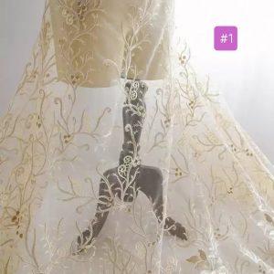 Georges Hobeika fashion week embroidery on silk fabric for evening dress,wedding dress/Limited Edition