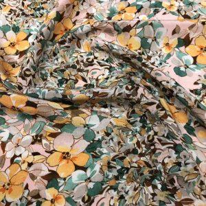 Gucci Silk fabric flowers pattern 2021 Milano fashion week/Italian Silk Fabric