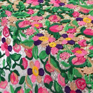 Oscar De La Renta embroidery cotton silk fabric,perfect for dress