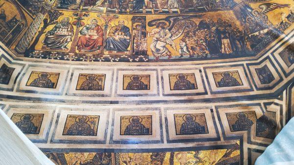 Florence Baptistery Design on silk Digital Inkjet painted