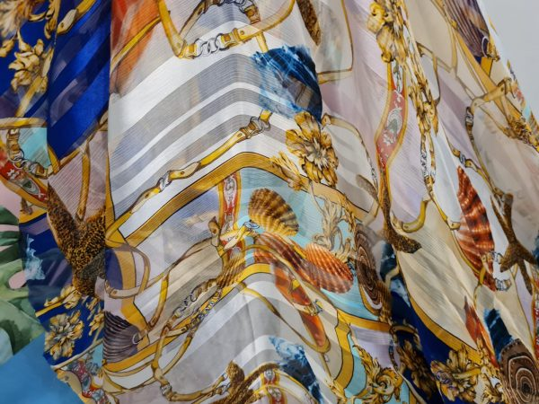 Versace Silk Chiffon from Sea collection