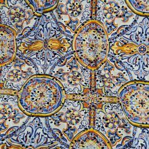 Dolce Gabbana Sicily show Majolica cotton embroidery eyelets