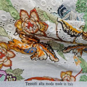 Zimmermann Cotton eyelets embroidered inkjet fabric from fashion week,Alta Moda Cotton fabric