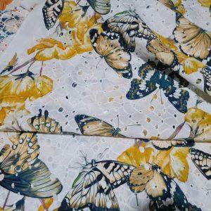 Zimmermann Cotton  sangallo inkjet with butterflies on eyelets embroidered base,Alta Moda fabric