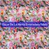 Oscar De La Renta cotton thread silk embroidered fabric