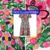 Oscar De La Renta embroidery cotton silk fabric