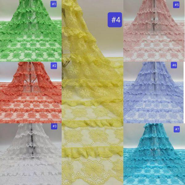 Alberta Ferretti Fabric silk polyester embroidery